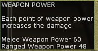 Weapon power sheet