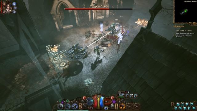 Fighting the undead in The Incredible Adventures of Van Helsing III