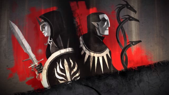 Cutscene art from Dragon Age II
