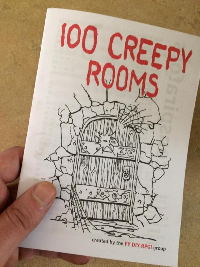 100 Creepy Rooms (zine format)