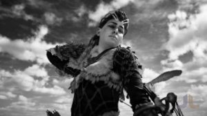 Horizon Zero Dawn, video game, woman, warrior, Aloy, sky, photo mode, clouds