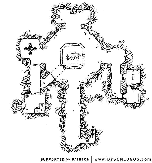 the Golem-Crypt of Ul-Vir the Mad (no grid)