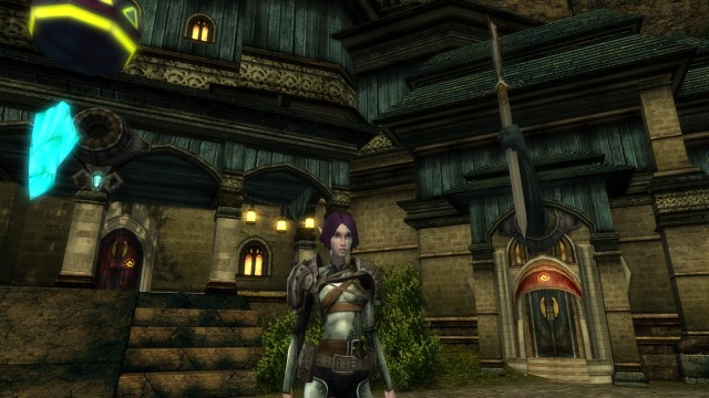 My Elven paladin in Dungeons and Dragons Online