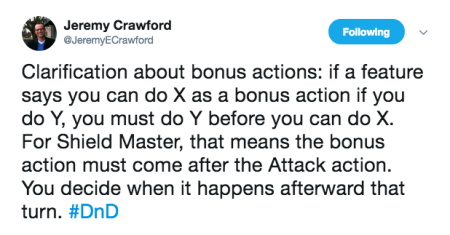 Crawford Tweet on Shield Master