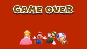Super Mario 3D World, video game, game over, Princess Peach, Mario, Luigi, Toad