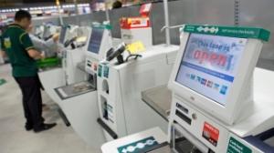 self-checkouts, Tesco, tills, store, supermarket, cashier