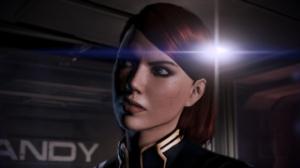Mass Effect, video game, female, FemShep, Commander Shepard, face