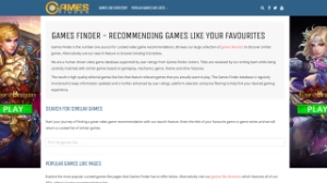 Games Finder, website