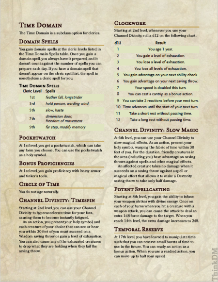 Time Domain (Cleric)