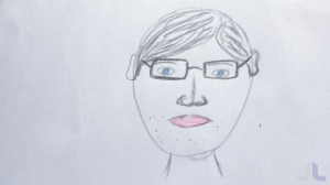 drawing, man, glasses, face, Pete