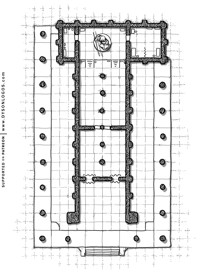 Gladiator's Temple D&D Map