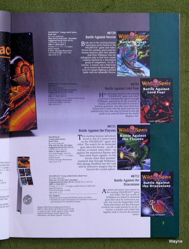 WILDSPACE - TSR 1994 catalog pg 5