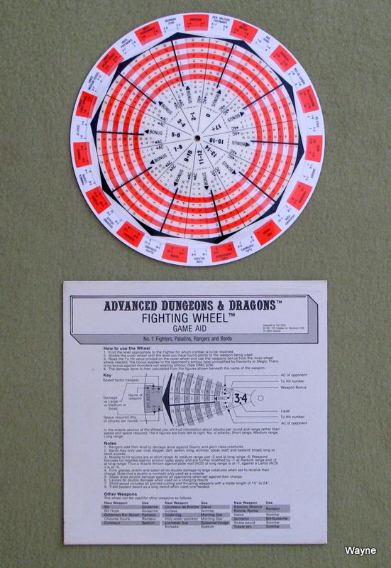 AD&D Fighting Wheel 1