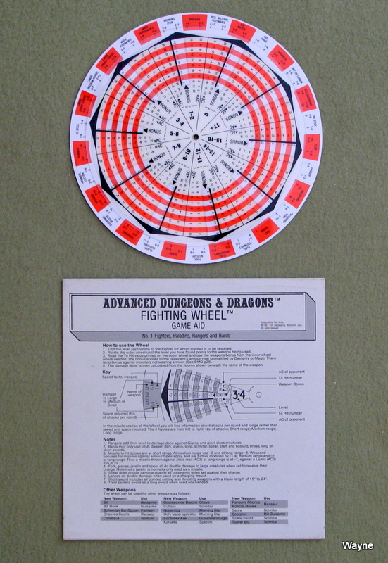 AD&D Fighting Wheel 1