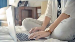 blogging, laptop, hands, keyboard