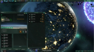 Stellaris, video game, space, stars, planet