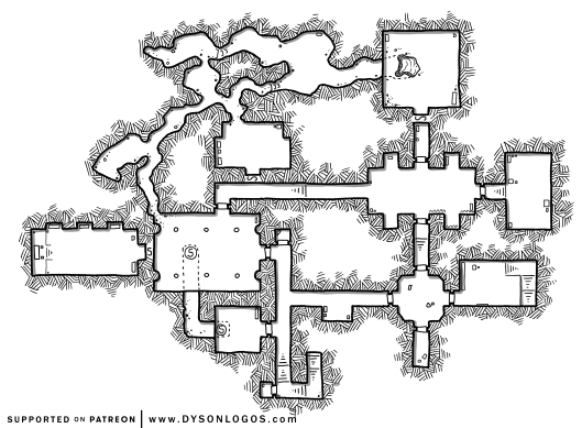 Dungeons of the Iron Star (1200 dpi - no grid)