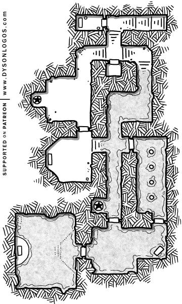 Flooded Catacombs (1200 dpi - no grid)