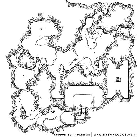 Gloomforge Caverns (1200dpi - no grid)