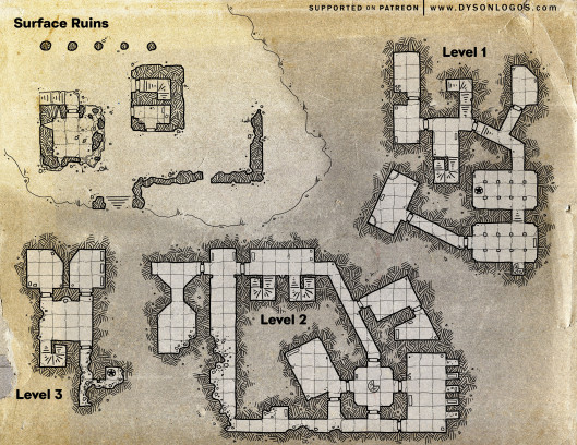 Ruined Keep of Madrual (300dpi promotional - no commercial license)