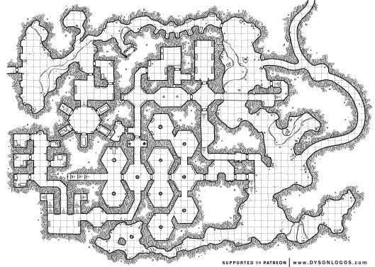 Borderlands Caves - Level 2 East - (1200 dpi)