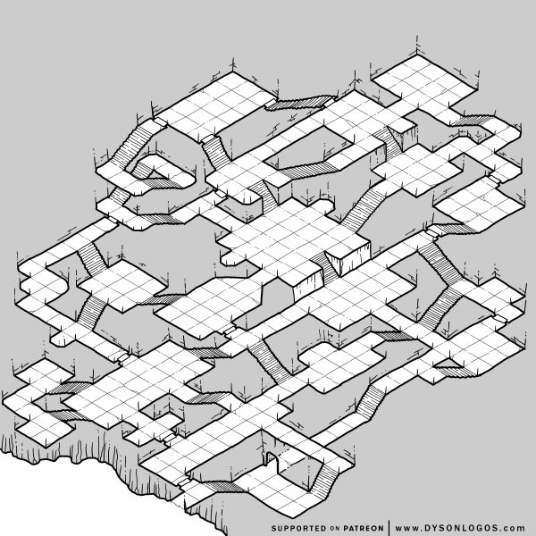 A Dungeon of Impossible Stairs (1200 dpi)