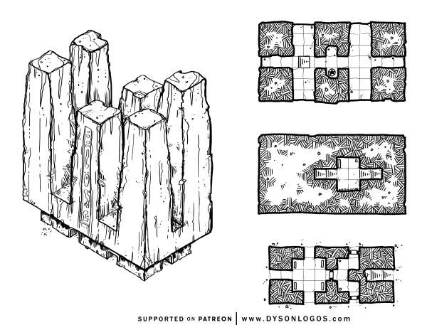 The Six Spires (1200 dpi)